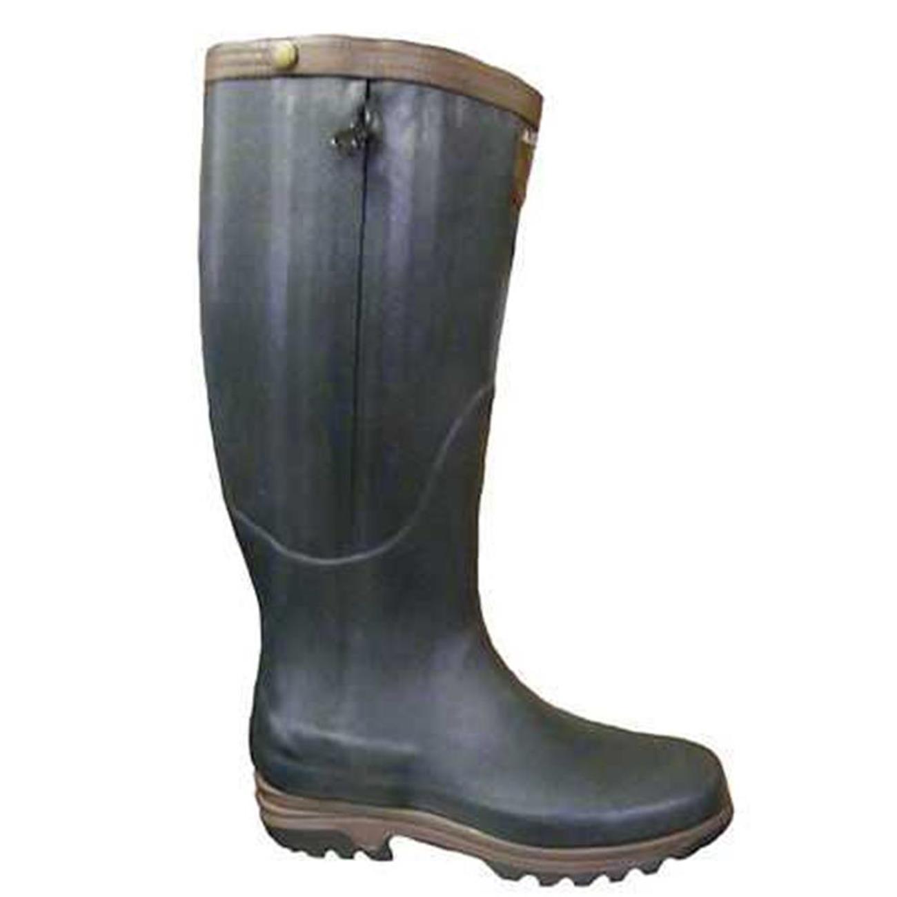 aigle parcours pre m leather lined wellington boots bronze