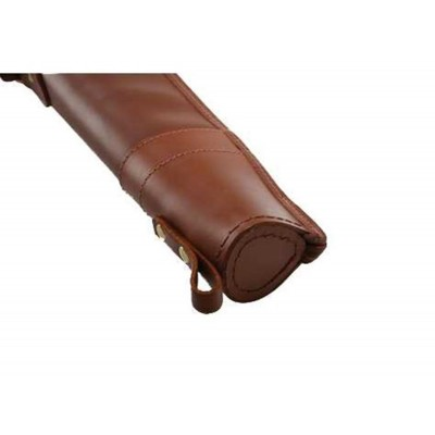 "Croots Byland Leather Shotgun Slip Zip/Handles Dark Havana 32"" LGS2"
