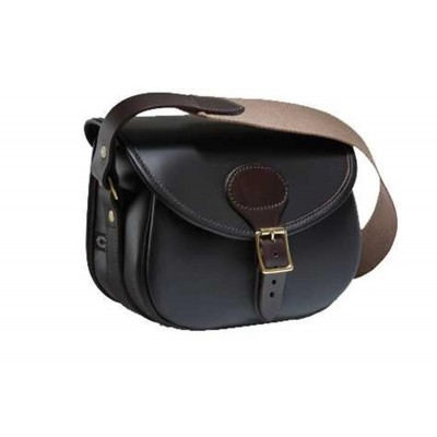 Croots Byland Leather Cartridge Bag Dark Havana 75 LCB75