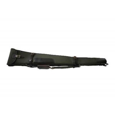 "Croots Rosedale Canvas Double Shotgun Slip Zip/Flap Fox Tan 32"" CGS14"