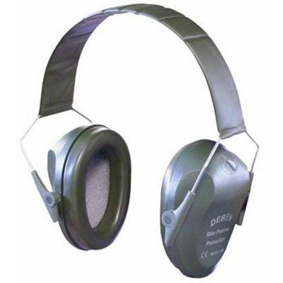 Deben Passive Slim-Line Ear Defenders GREEN DS4101