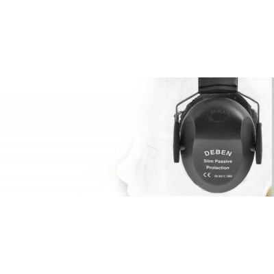 Deben Passive Slim-Line Ear Defenders BLACK DS4102