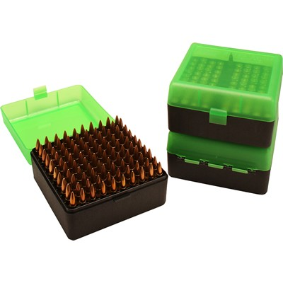 MTM 100 Round Rifle Ammunition Box RM-100 Green/Black RM-100