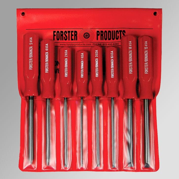 forster gunsmith screwdriver set assortment of 8 sizes 1 2 3 4 5 14 15 16 1201 cdsg ltd. Black Bedroom Furniture Sets. Home Design Ideas