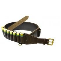 Bisley Deluxe Brown Leather Cartridge Belt 12 BORE CBLD12