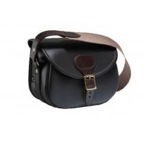 Croots Byland Leather Cartridge Bag Dark Havana 100 LCB100