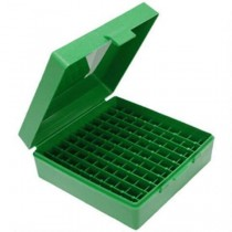 MTM 100 Round Pistol Ammunition Box P-100-44 Green