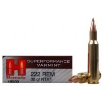 Hornady Ammunition 222 REM 35Grn NTX SPF HORN-8309