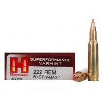 Hornady Ammunition 222 REM 50Grn V-MAX SPF HORN-8316