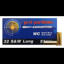 Prvi Partizan Ammunition 32 S&W LONG 98Grn W / C (100 Pack) (A298)