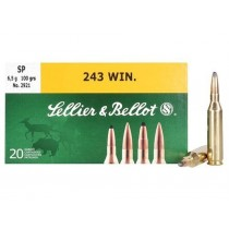 Sellier & Bellot 243 WIN 100Grn SP Ammunition (20 Pack) 2921