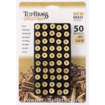 Top Brass Unprimed Brass 40 S&W (50 Pack) DP-7B040SW