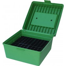 MTM 100 Round Deluxe Rifle Ammunition Box R-100 Green (R-100-10)