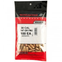 Winchester Bullet 30 CAL 147Grn FMJ .308 100 Pack WINB762MC147
