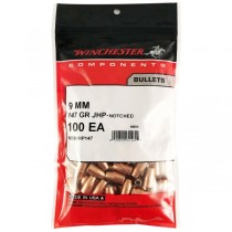 Winchester Bullet 9mm 147Grn JHP .355 100 Pack WINB9JHP147