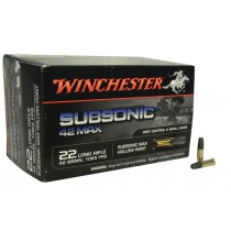 Winchester Subsonic 22LR 42Grn HP Ammunition (50 PACK) W22SUB