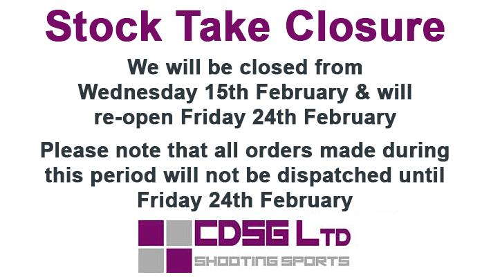 February Stock Take Closure